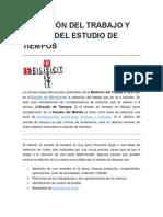 SELECCIÓN DEL TRABAJO Y ETAPAS DEL ESTUDIO DE TIEMPOS.docx