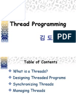 Thread Programming 김도형
