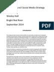 Pendle Council Social Media Strategy 2014