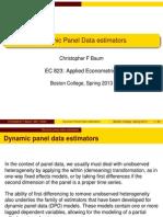 Xbond2-Dynamic Panel Data Estimators