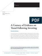 A Century of Evidence on Trend-Following Investing