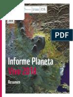 Resumen Informe Planeta Vivo 2014 Especies y espacios, gente y lugares