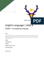 Language Investigation Draft 2