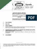 Arroyo Grande City Council Agenda