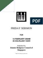 Friday Sermon