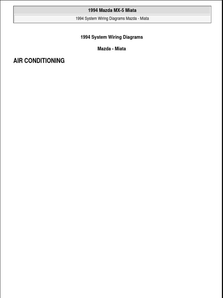 1994 Miata Wiring Diagram Automotive Technologies Automotive Industry