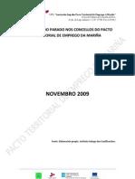 Perfil tipo do parado Novembro 2009 concellos