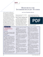 Julie Thompson Klein - Resources for Interdisciplinary Studies.pdf
