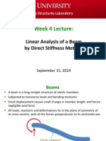 Week 4 Lecture - Beam Deflection & Analysis (Sept 15, 2014)