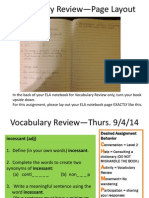 september vocabulary review