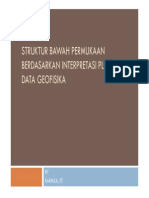 Struktur Bawah Permukaan Berdasarkan Interpretasi Ploting Data Geofisika