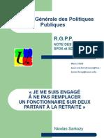 Révision Générale des Politiques Publiques - 2008