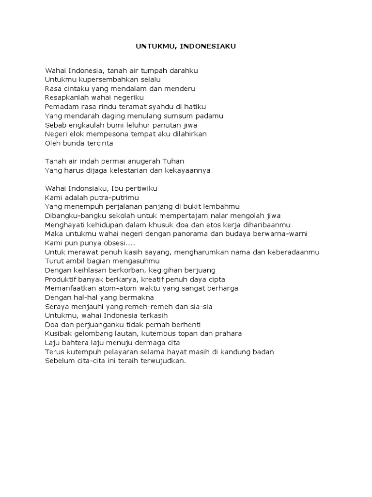 Contoh Puisi Tentang Cinta Tanah Air Singkat Archidev