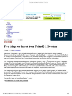 Five Things We Learnt From United 2-1 Everton