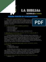 10 declaraciones sobre la Biblia