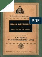 Indian Inheritance Arts, History and Culture Vol. II - K.M. Munshi