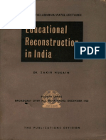 Educational Reconstruction in India - Dr. Zakir Husain