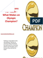 Bible Lessons for Youth - What Makes an Olympic Champion