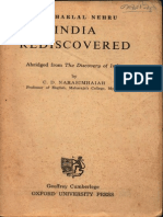 India Rediscovered Abridged Version of Nehru's Discovery of India - C.D. Narasimhaiah
