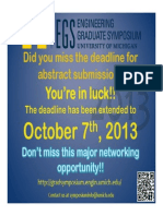 Extended Deadline Poster