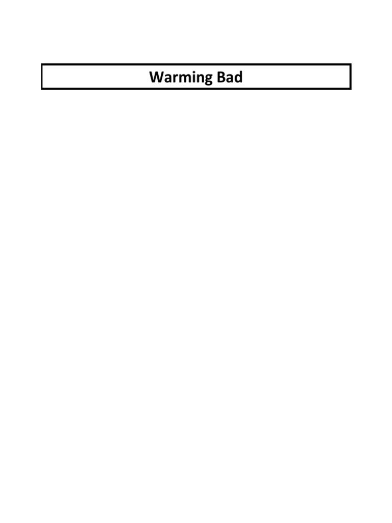 DDI Warming Core - Final   Scientific Opinion On Climate Change