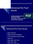 Advanced No-Fault Issues