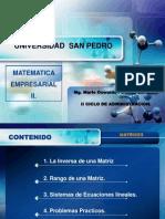 SESION N° 03 -  LA INVERSA DE UNA MATRIZ - RANGO Y ECUACIONES LINEALES..pptx