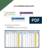 Tutorial de combinación de  tablas en SPSS
