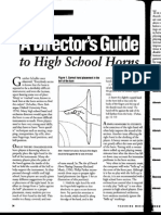 a directors guide to high school horns