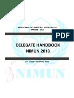 nimun 3 delegate handbook