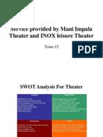 Service Provided by Mani Impala Theater and INOX