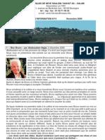Lettre d'Information No. 14 - Dec 2009