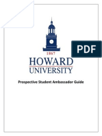Howard University Prospective Student Ambassador Packet