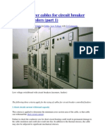 Sizing of Power Cables for Circuit Breaker Controlled Feeders Part I