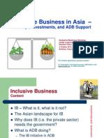「インクルーシブ・ビジネス:ADBの取り組み」(2014年10月2日)セミナー資料
