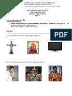 Test de Evaluare Inițială, Cls. a I-A, Religie