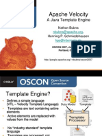 Apache Velocity - OSCON2007