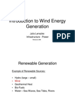 Introduction to Wind Power Generation