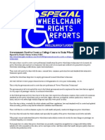 Government Needs to Create a College Course to Train Wheelchair Technicians