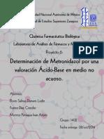 Determinacion de Metronidazol