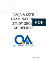 CSQA Study Group Guide 2009