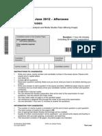 OCR Exam Paper (2012 HURT LOCKER) Unit b322 01 Textual Analysis and Media Studies Topic Moving Image
