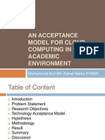 An Acceptance Model for Cloud Computing in Academic
