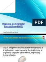 Magnetic Ink Character Recognition