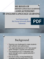 The Roles of Computer-Assisted Language Learning