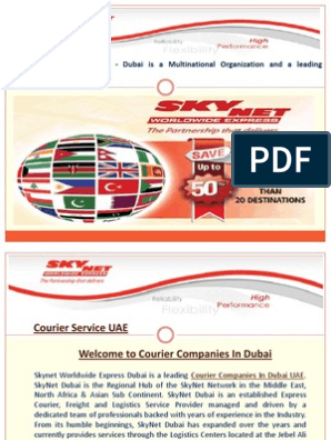 Skynet Courier Tracking Dubai pdf | Delivery (Commerce) | Cargo