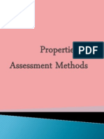 Properties of Assessment Methods