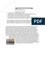 Management of Technology
