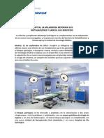 Hospital La Milagrosa reforma sus instalaciones y amplía sus servicios