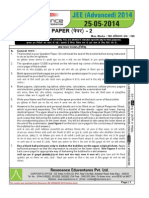 JEE Advanced 2014 Solution Paper 2